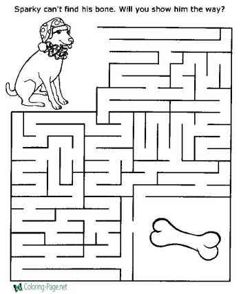 mazes printable worksheets