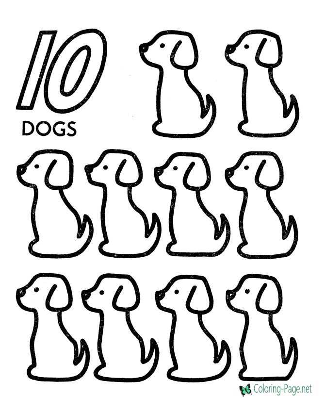 Counting worksheets for Count by number coloring pages