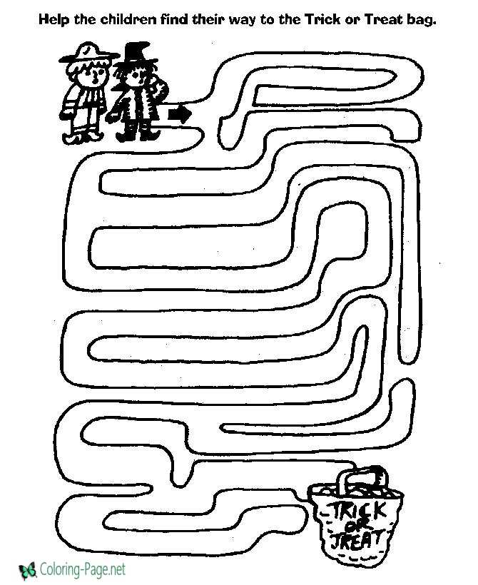 Printable maze for kids