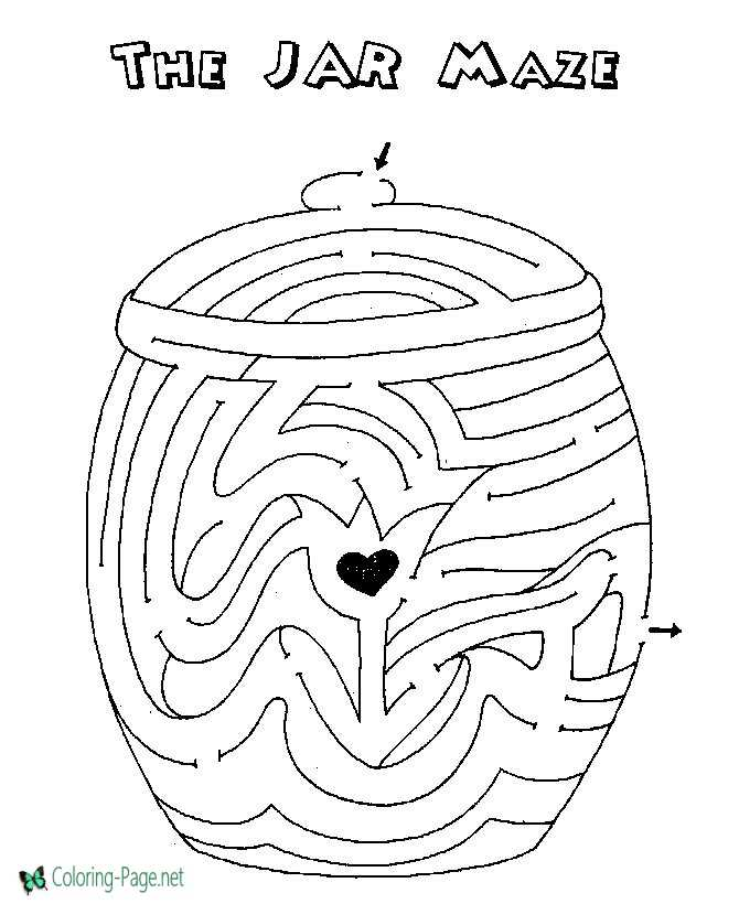 Printable Mazes The Jar Maze