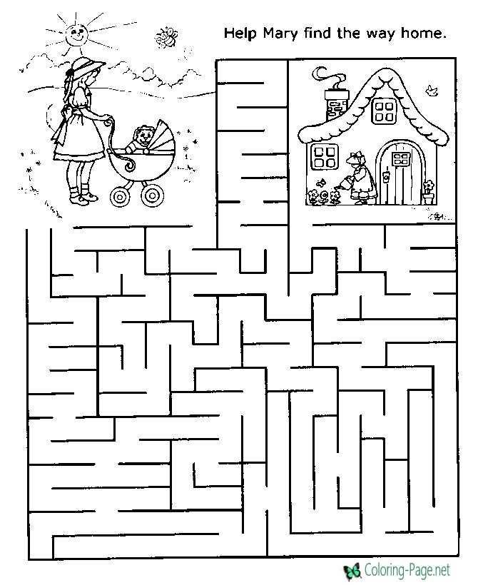 graphic regarding Printable Maze for Adults known as Printable Mazes