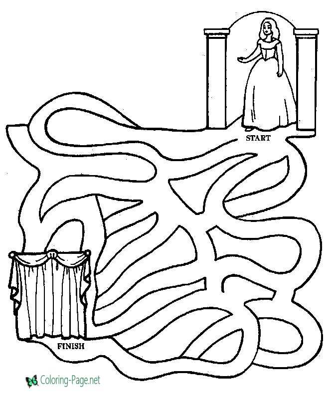Printable Mazes Princess Maze