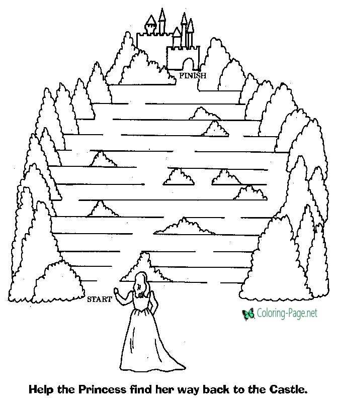 The Princess Maze Printable Mazes