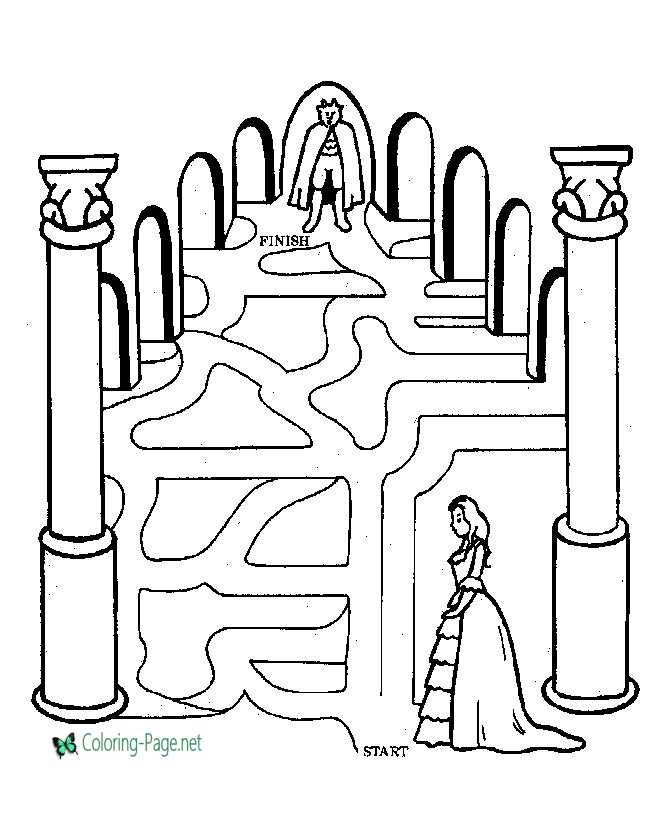 Beauty Beast Printable Mazes