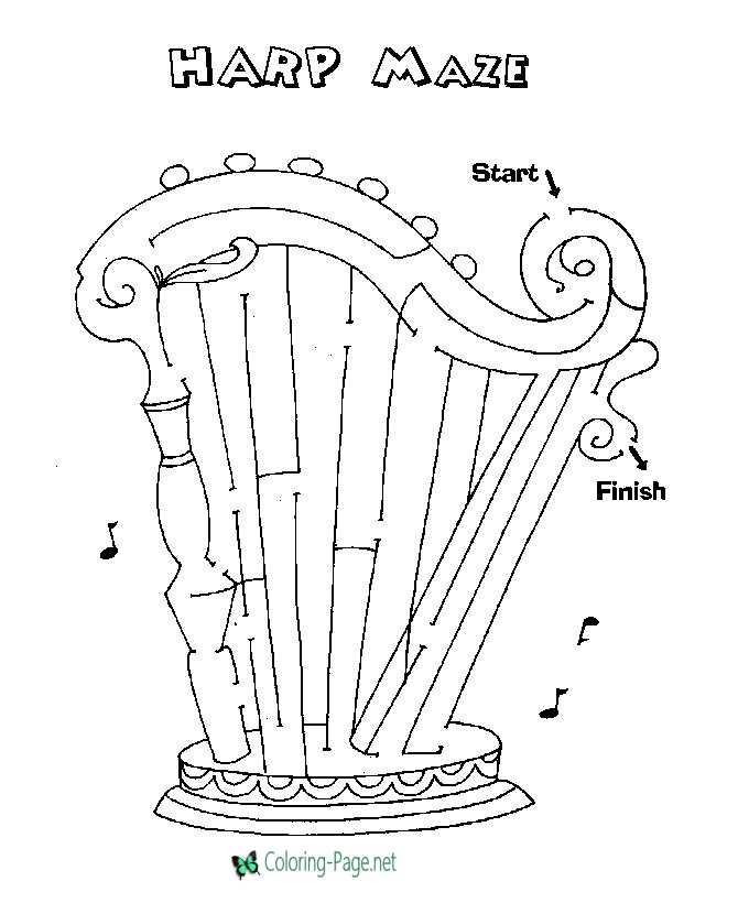 harp coloring pages - photo#26