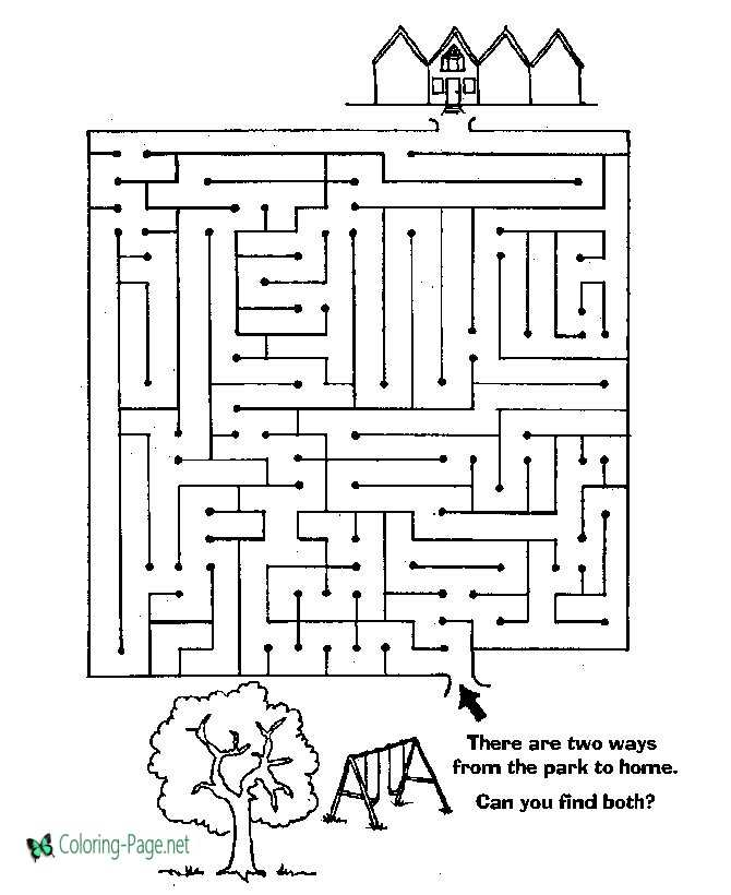 photograph regarding Printable Mazes for Kids named Playground Small children Printable Mazes