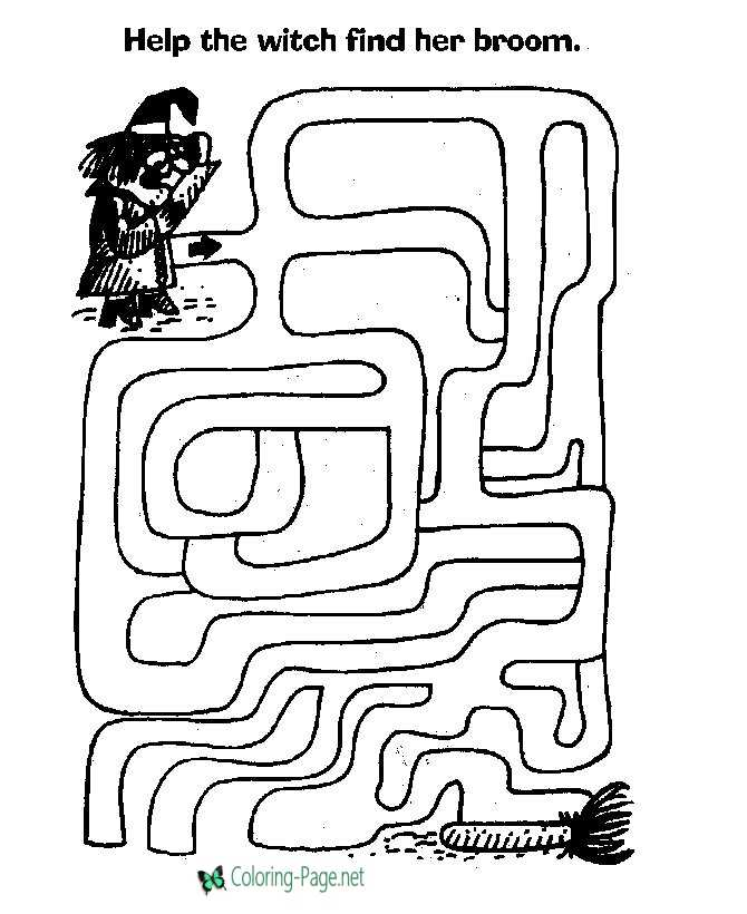 Halloween Kids Printable Mazes