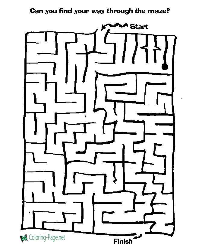 Difficult Kids Printable Mazes