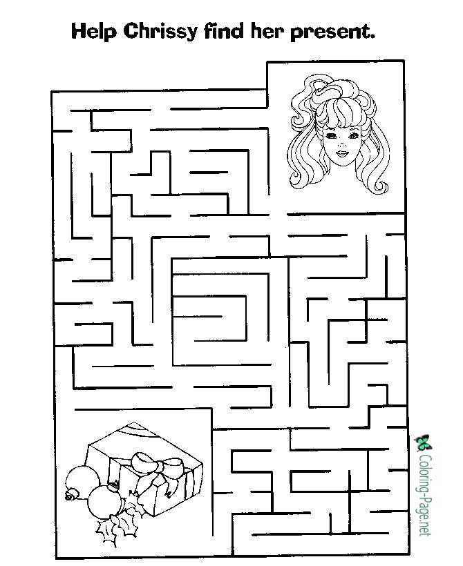 Printable Girls Mazes