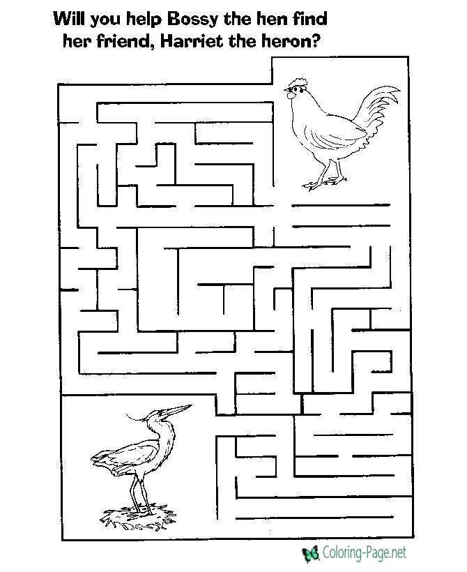 Printable Birds Mazes