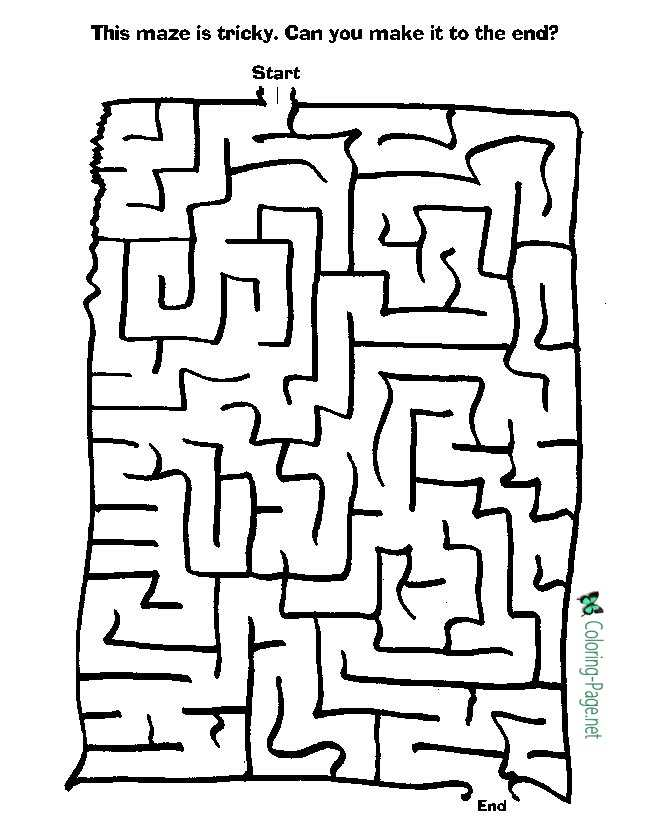 Printable Kid Mazes