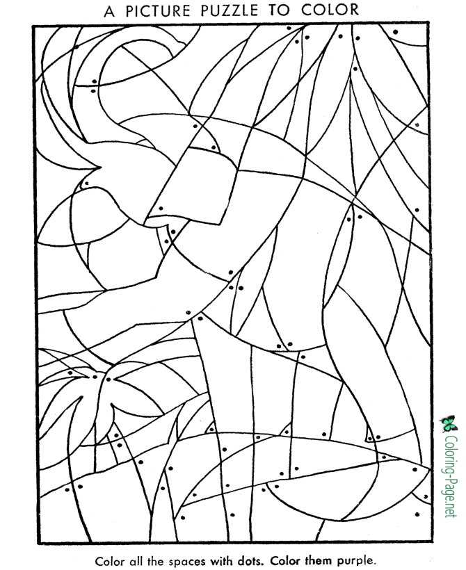 Print Picture Kids Puzzle Worksheet