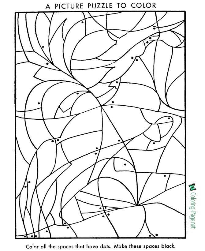 Picture Puzzle Worksheet to print