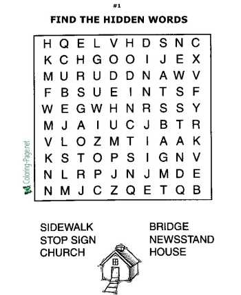 Printable word search kids worksheets