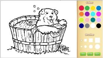 color dog coloring pages online