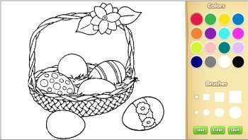 color easter coloring pages online