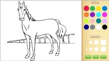 color horse coloring pages online