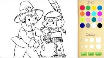 color thanksgiving pages online