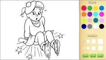 color winter kids coloring pages online