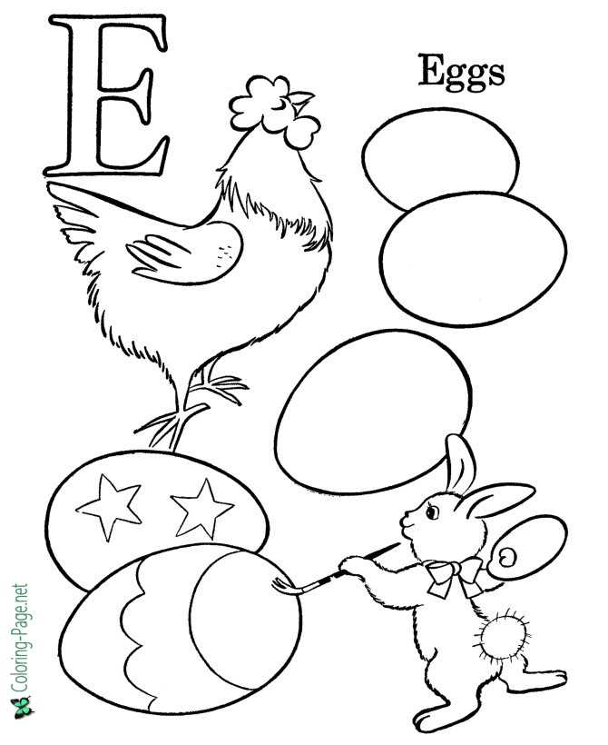 Kids ABC pictures to color