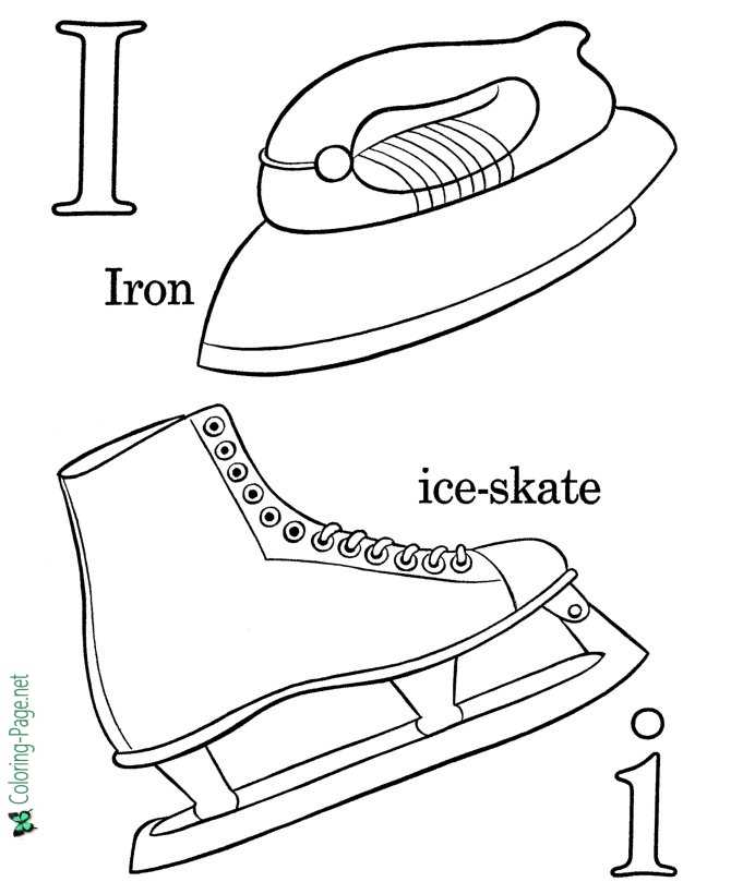 Letter I - Alphabet Coloring Pages