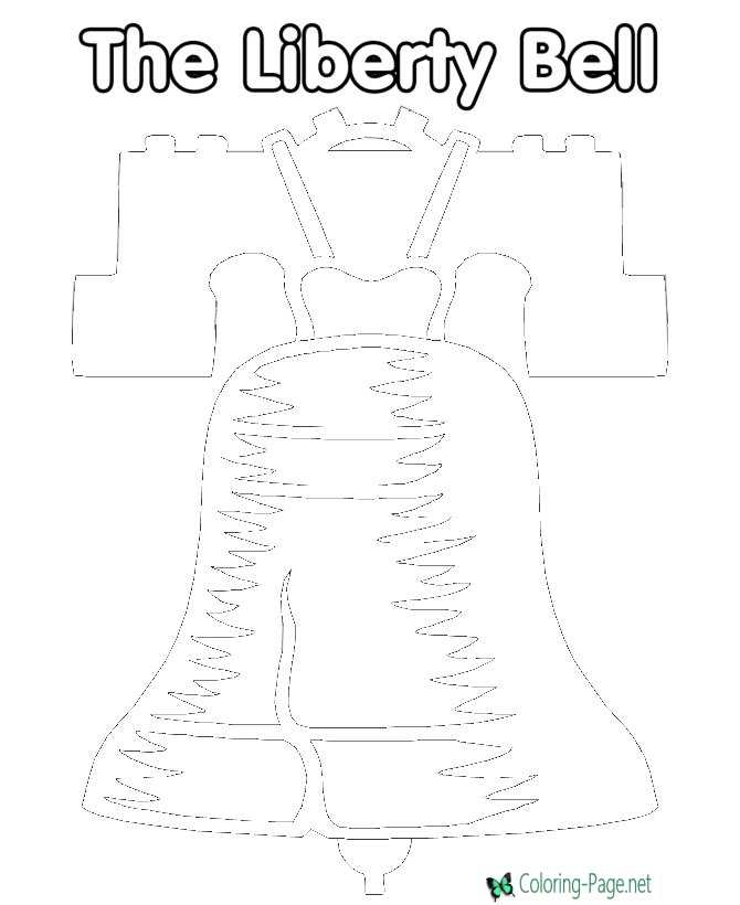 Liberty Bell 4th of July Coloring Pages