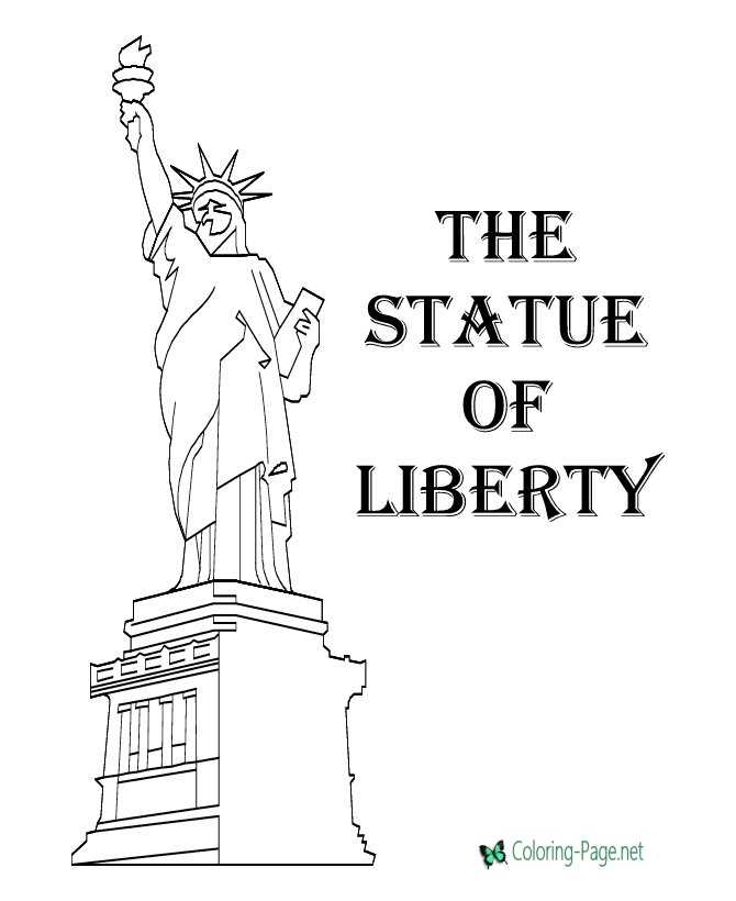 Lady Liberty 4th of July Coloring Pages