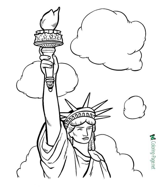 Statue of Liberty to color