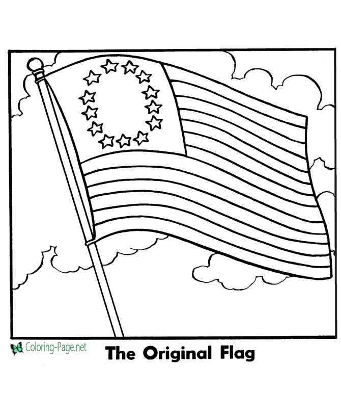 American flag to print color