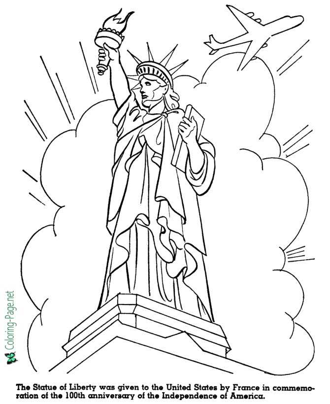 Statue of Liberty - American History for Kids Coloring Pages