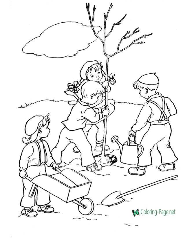Printable Arbor Day coloring page