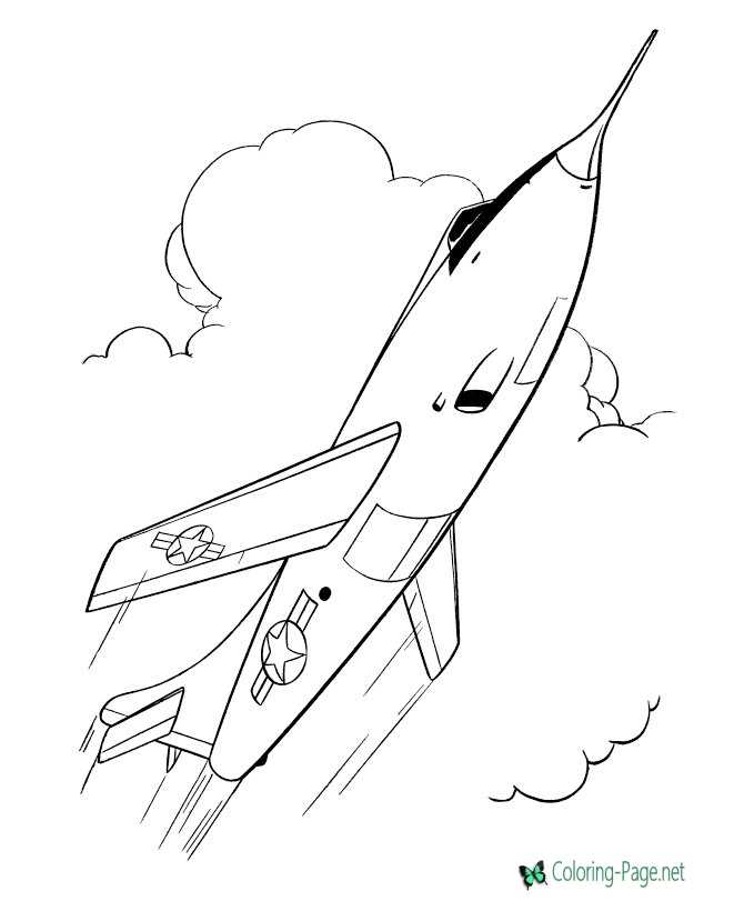 Air Force Jet Armed Forces Coloring Pages