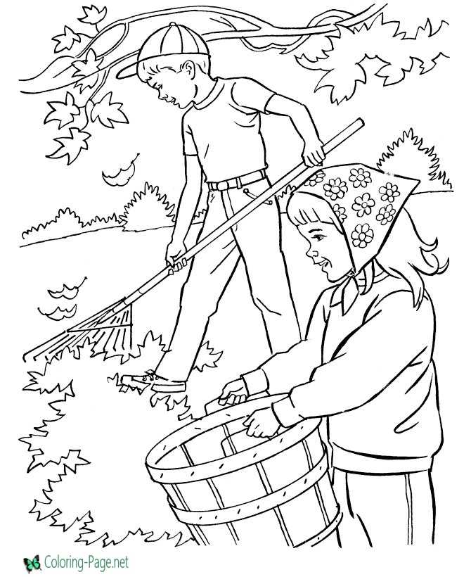 Rake Coloring Pages Printable - Kitchen And Living Space Interior •