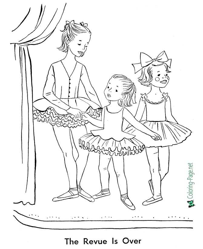 - Click A Picture Below For The Printable Ballet Coloring Page