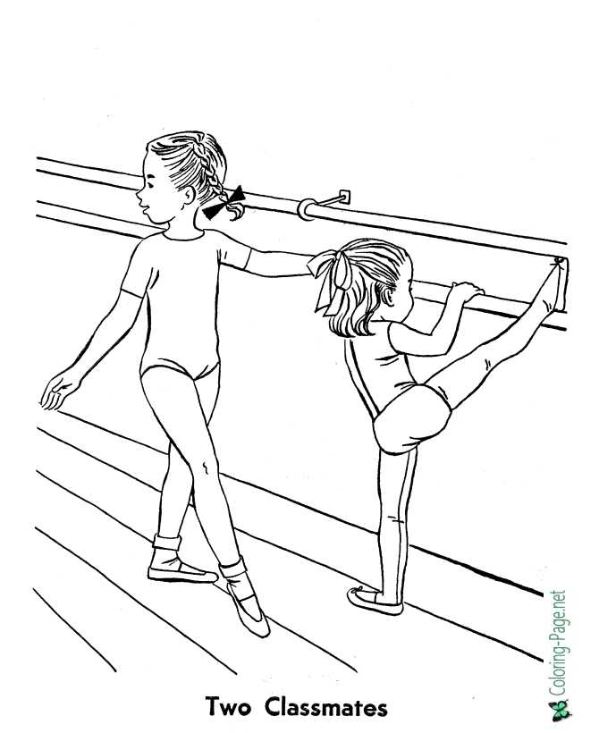 print ballet coloring page
