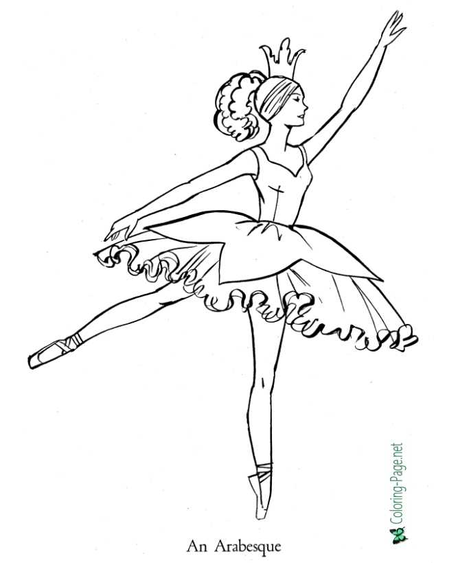 ballet coloring page for children