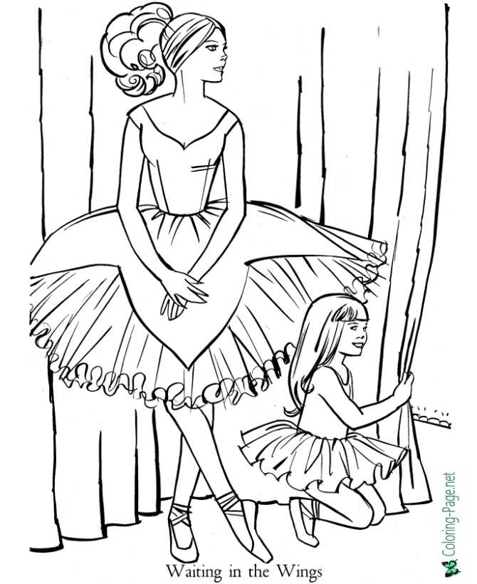 ballet pictures to color