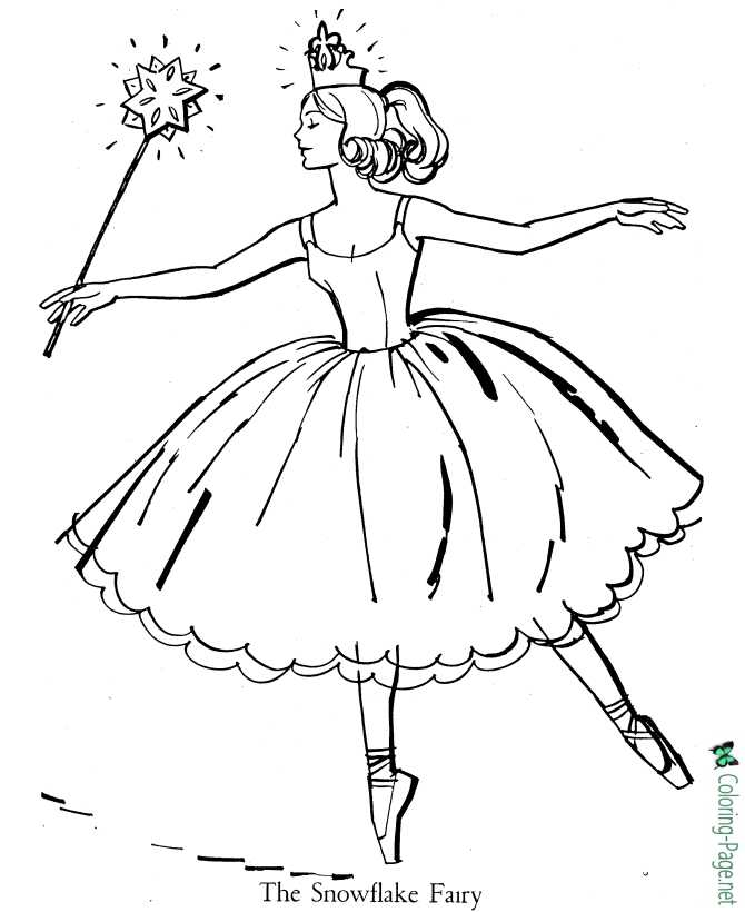 - Ballet Coloring Pages - The Snowflake Fairy