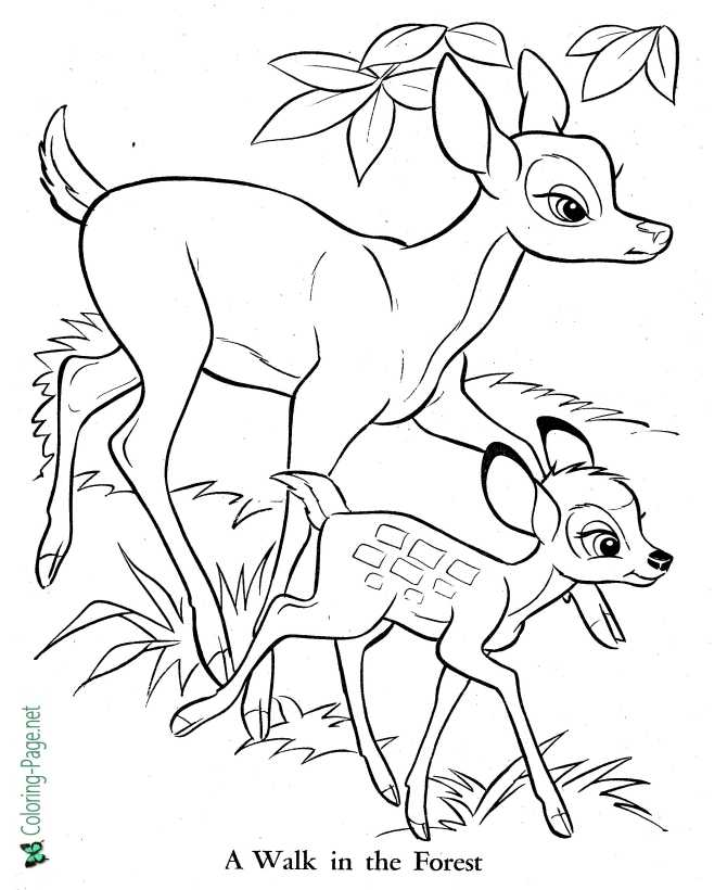bambi coloring page for children