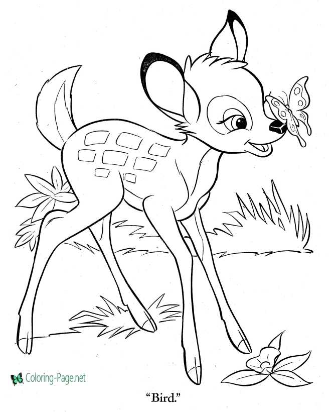bambi pictures to color