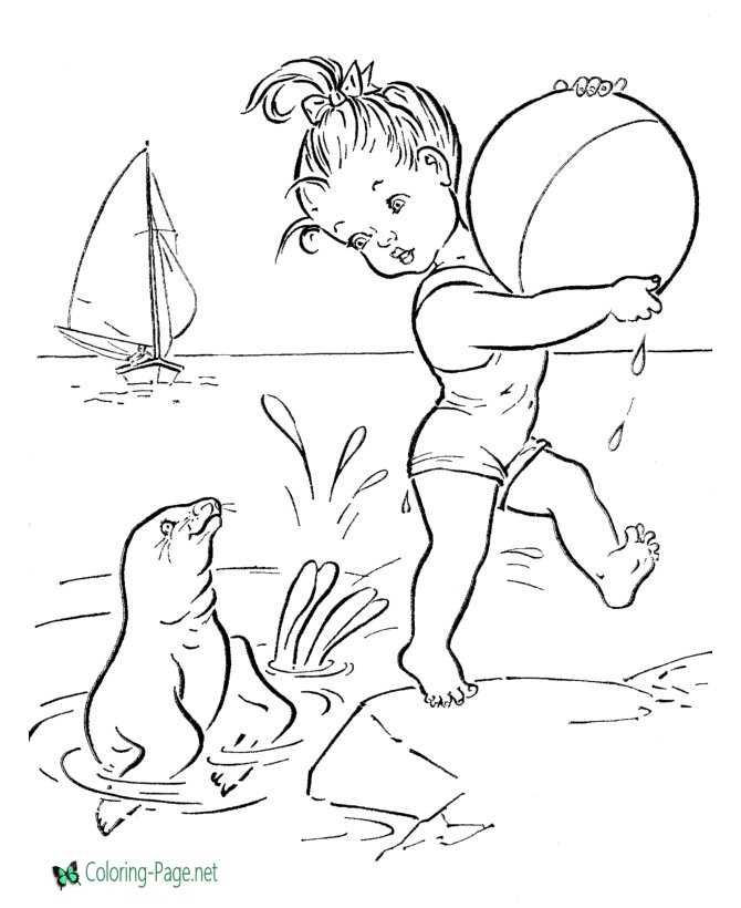 - Beach Coloring Pages