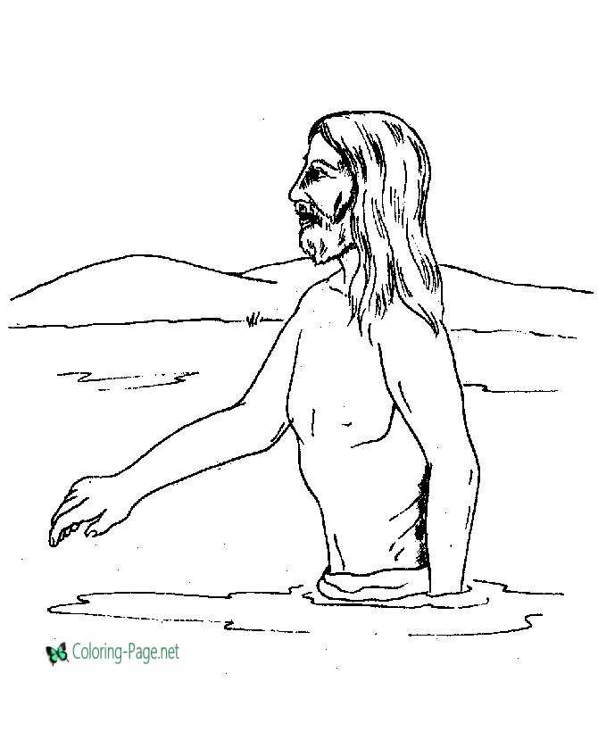 Bible Coloring Pages - Jesus