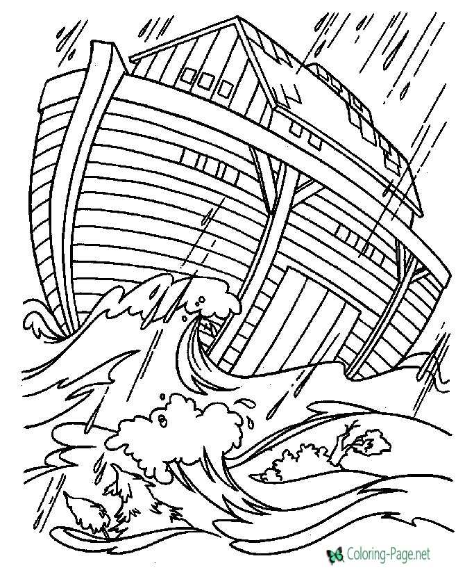 Noahs Ark Bible Coloring Pages