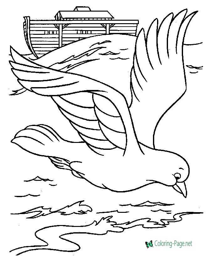 Noahs Ark and dove Coloring Pages