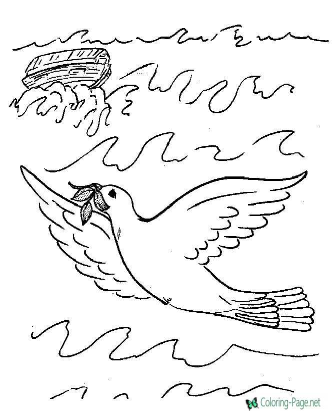 Printable Bible Coloring Pictures of Noahs Ark