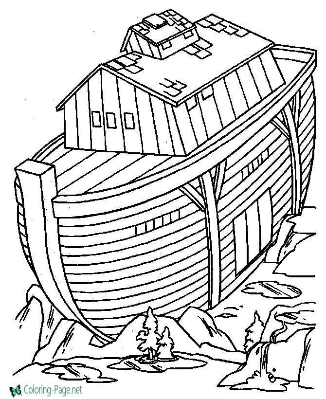 Noah´s Ark Coloring Pages