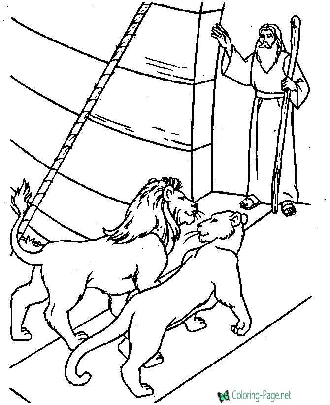Bible Coloring Page of Noah