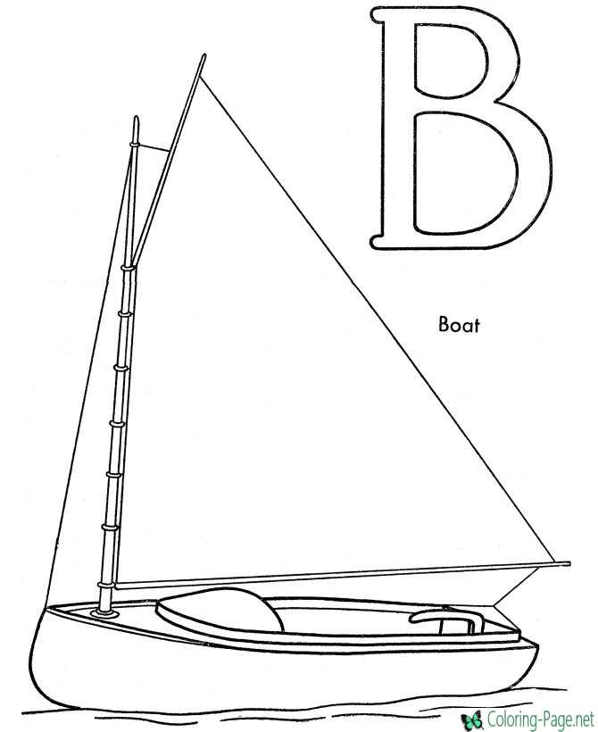 google coloring book pages boats - photo#39