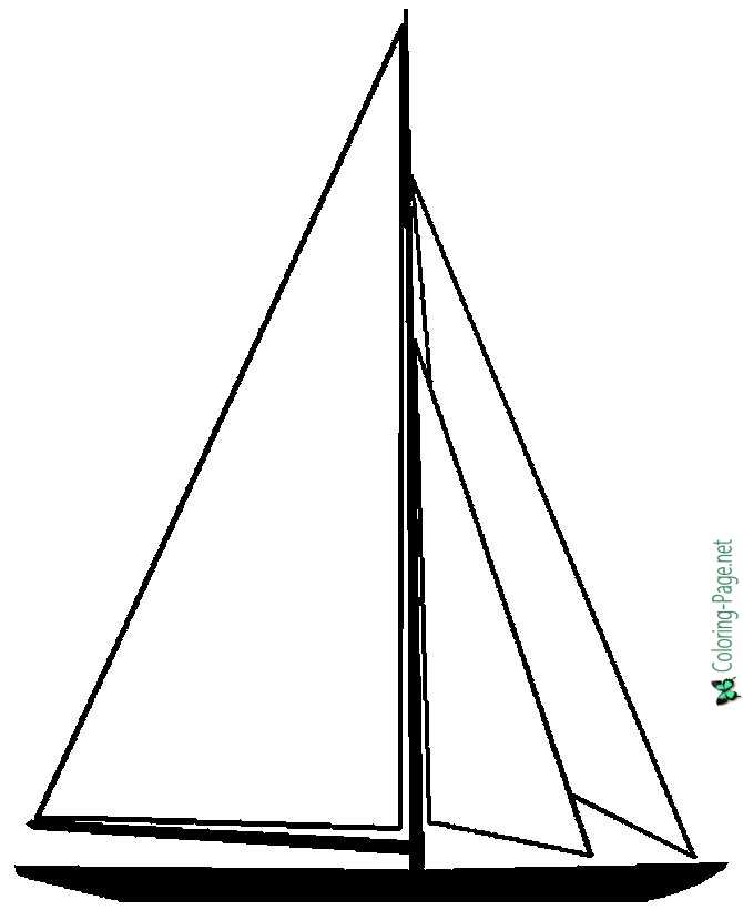 Sail Boat Coloring Page to Print and Color