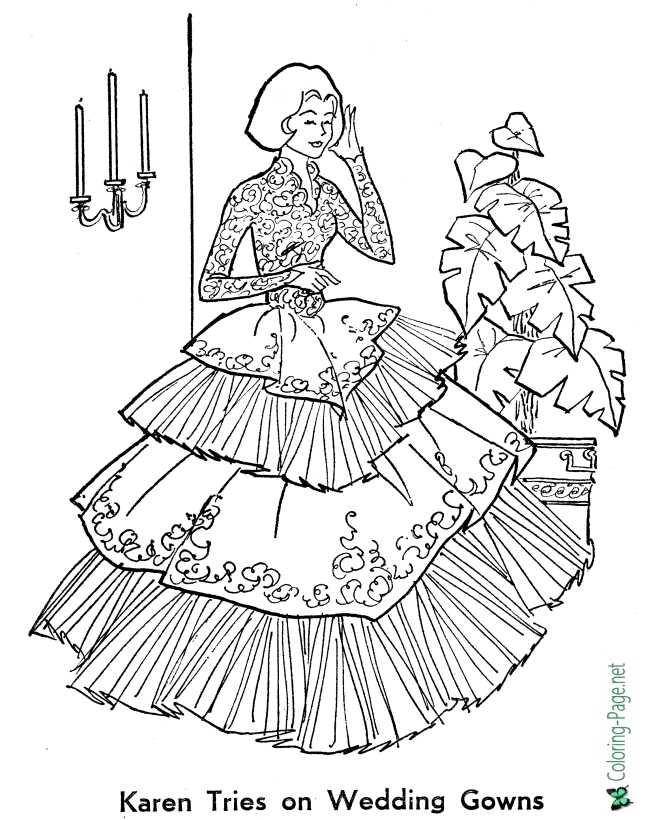 Wedding Bride Coloring Pages